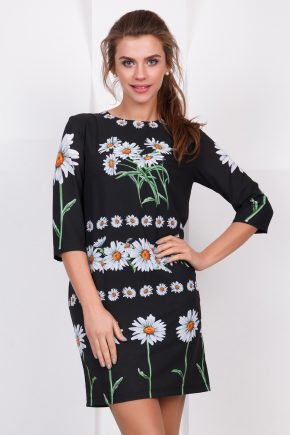 dress-daisy-black