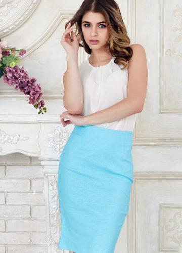 skirt-blue-bodycon
