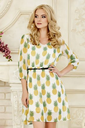 dress-chiffon-pinapple