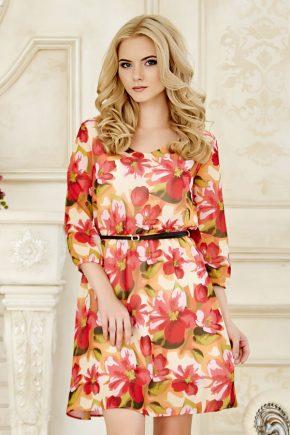 dress-chiffon-redflowers