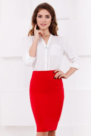 skirt-midi-pencil-red