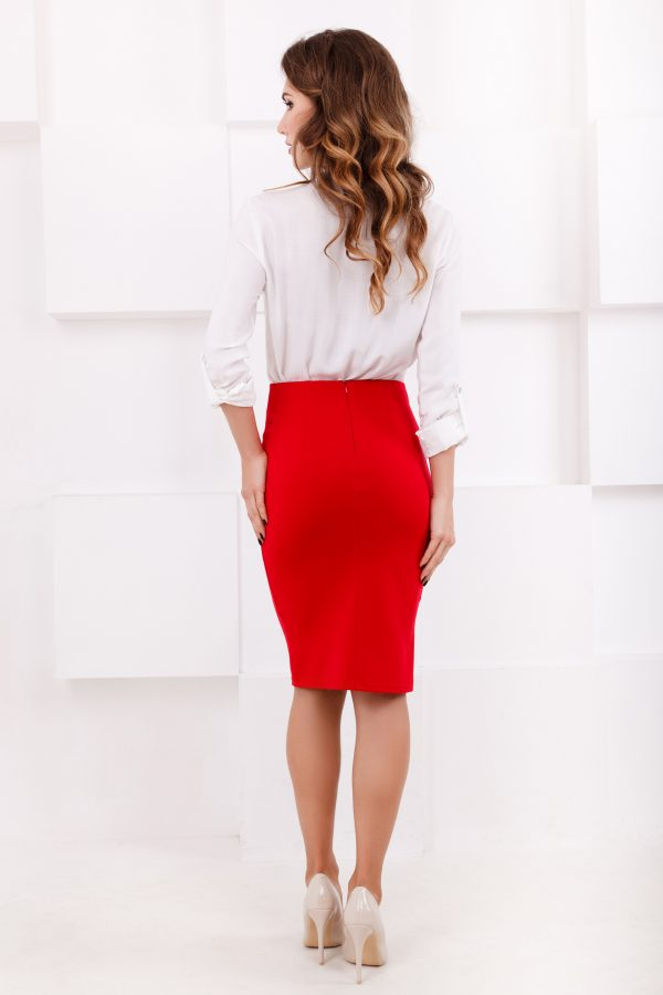 skirt-midi-pencil-red-back