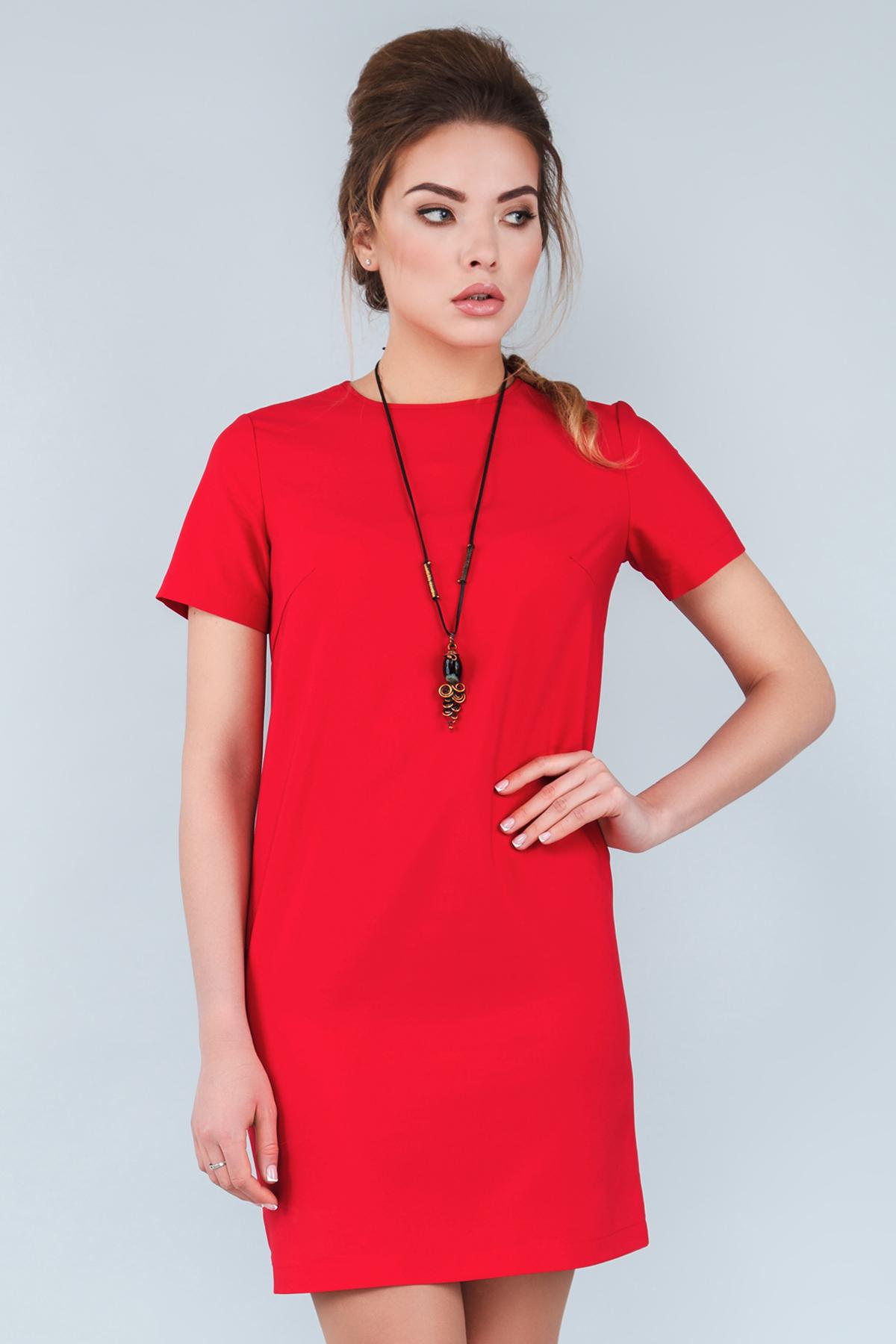 94b4db54cb8 Прямое красное платье