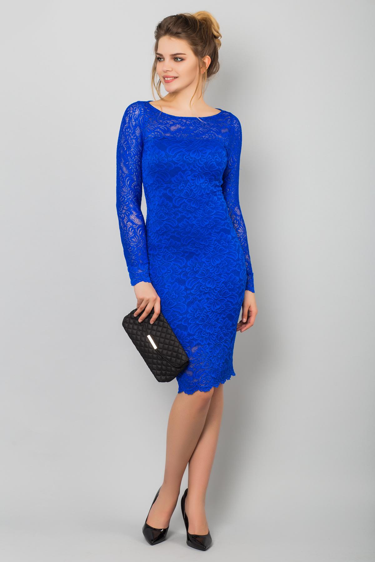 Фото синие платья с гипюром