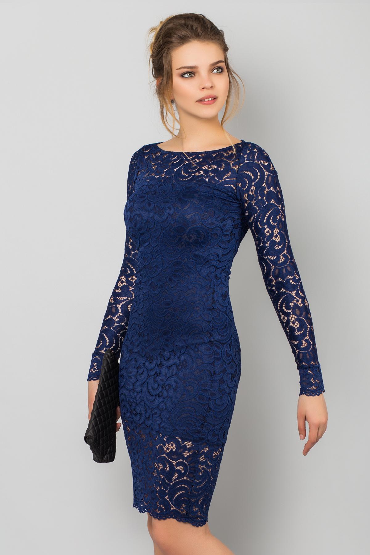 Гипюровое платье с длинным рукавом фото