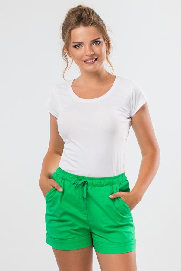 short-green-linen