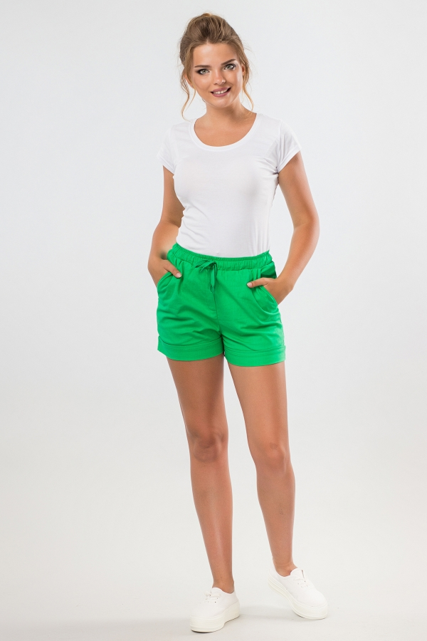 short-green-linen-full