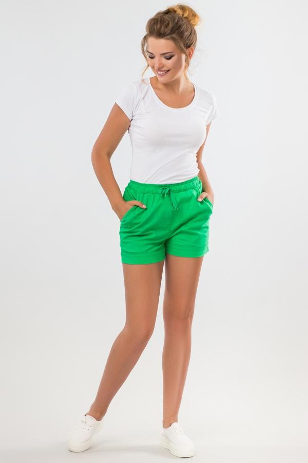 short-green-linen-half