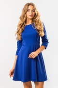 dark-blue-dress-flared-skirt