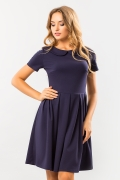 dark-blue-dress-round-collar