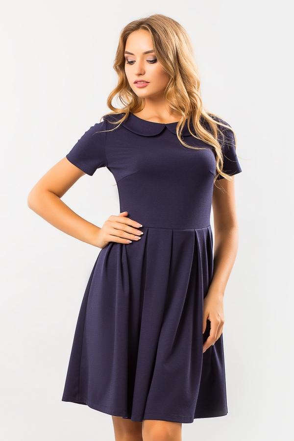 dark-blue-dress-round-collar
