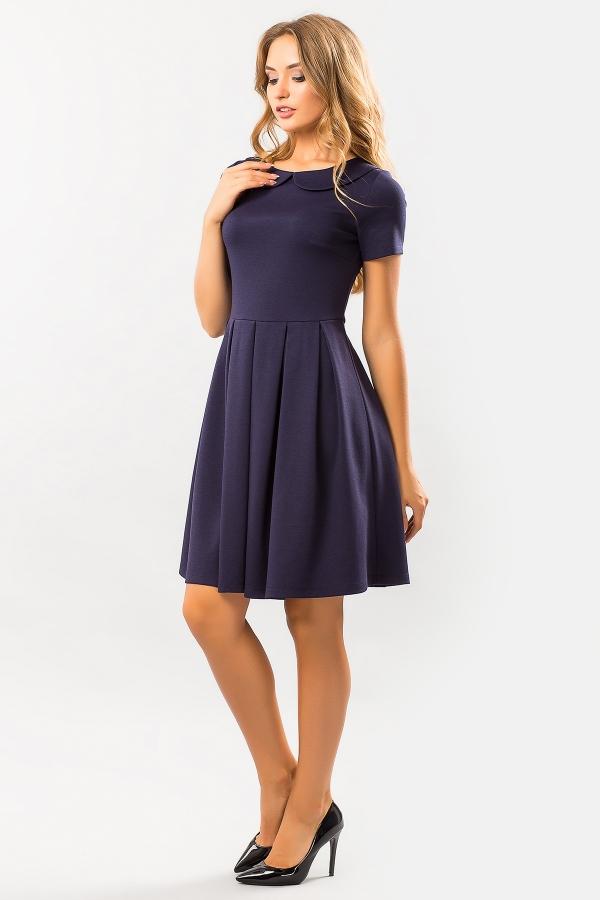 dark-blue-dress-round-collar-half