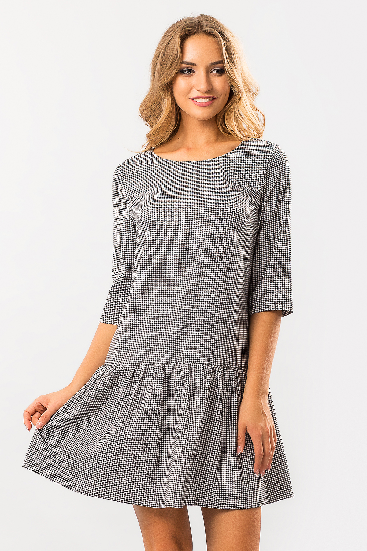 Гусиная лапка платье