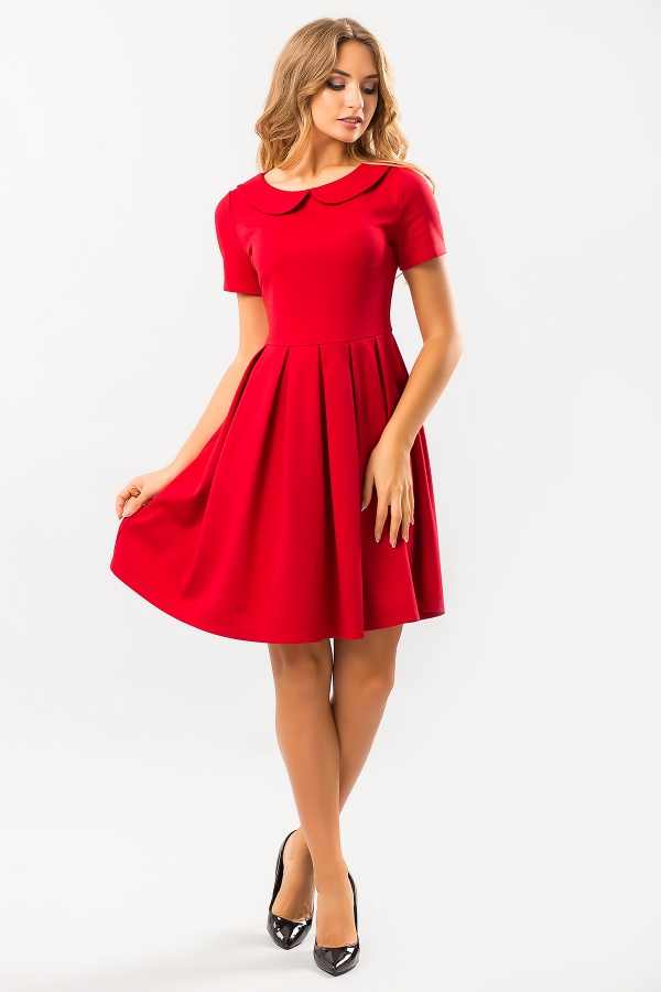 red-dress-round-collar-full