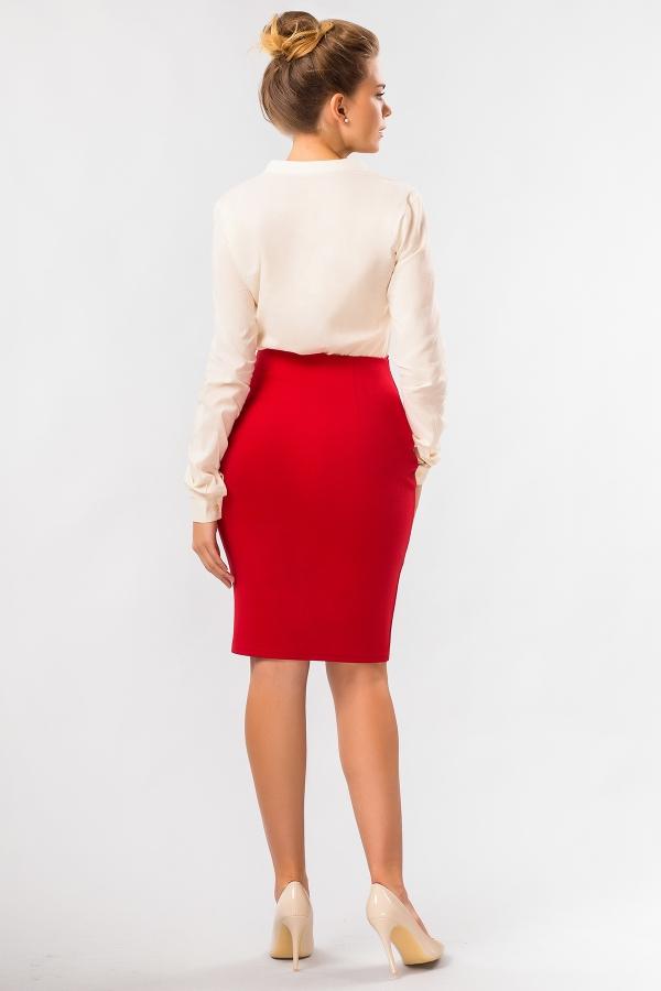 red-skirt-zipper-back
