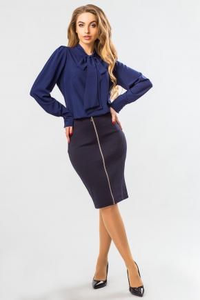 blouse-dark-blue-tie