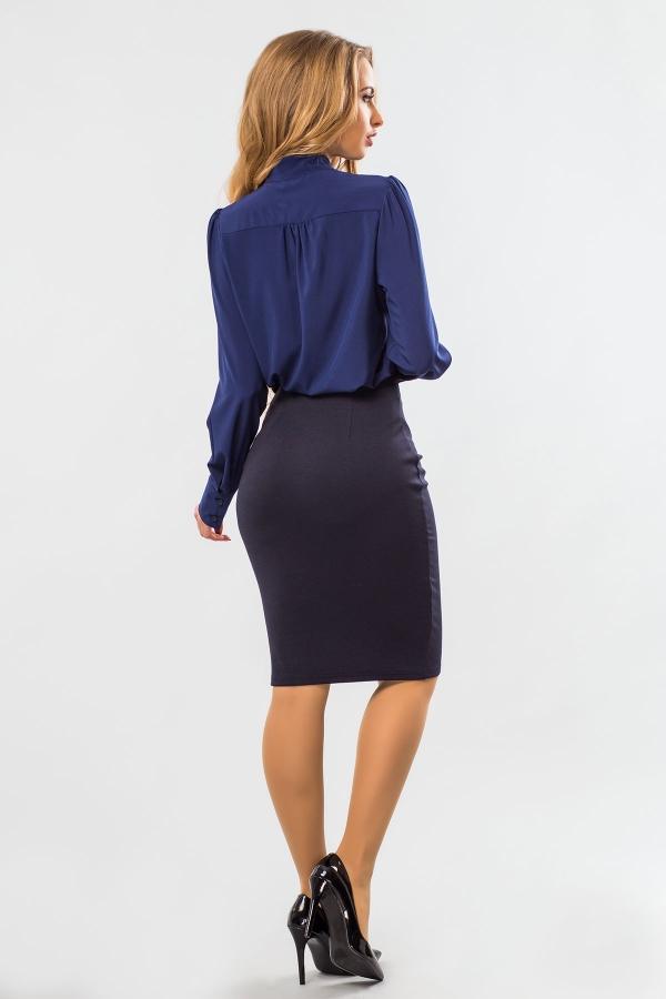 blouse-dark-blue-tie-back