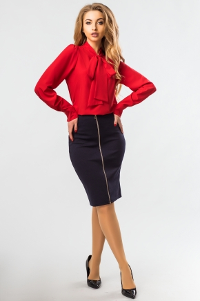 blouse-red-color-tie