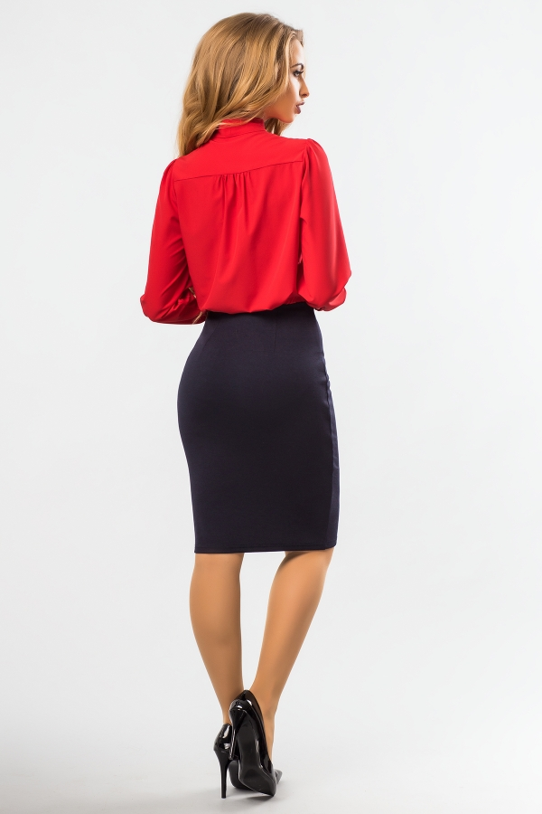 blouse-red-color-tie-back