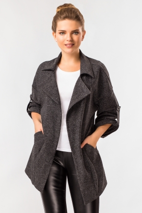 cardigan-black-melange