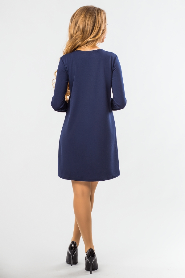 dark-blue-a-line-dress-ruffles-back