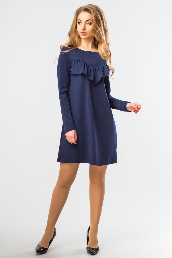 dark-blue-a-line-dress-ruffles-full