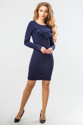 dark-blue-dress-ruffles
