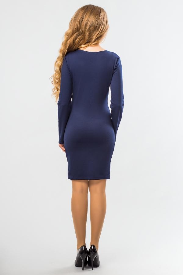 dark-blue-dress-ruffles-back
