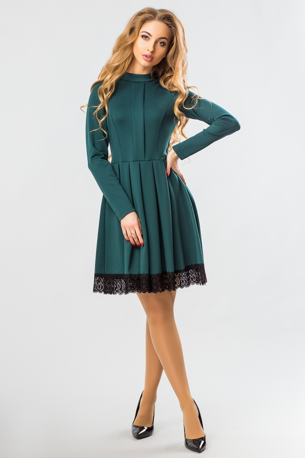 dark-green-dress-lace