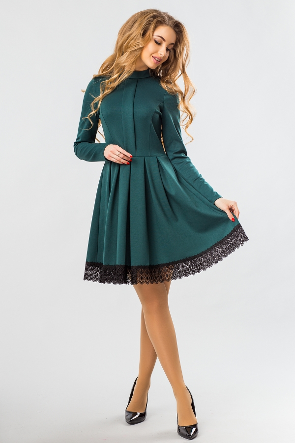 dark-green-dress-lace-full