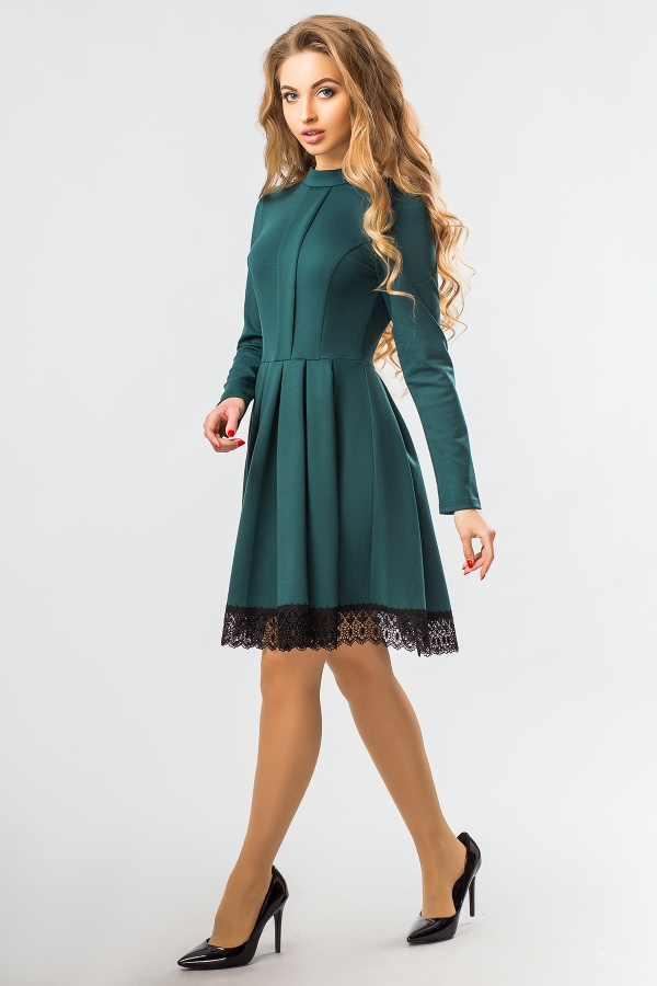 dark-green-dress-lace-half