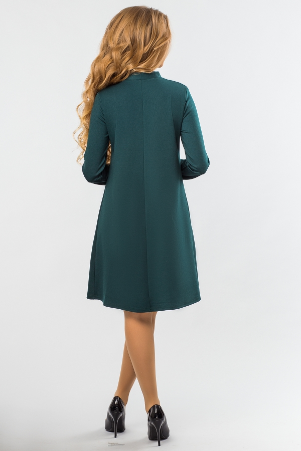 dark-green-dress-tie-back