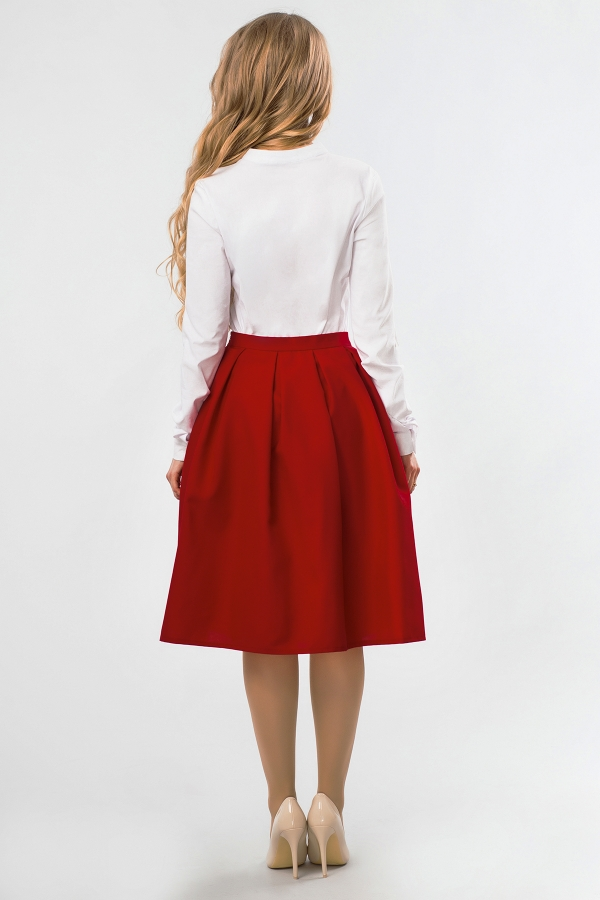 midi-skirt-brick-color-back