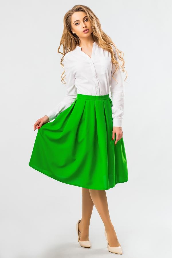 midi-skirt-green-color