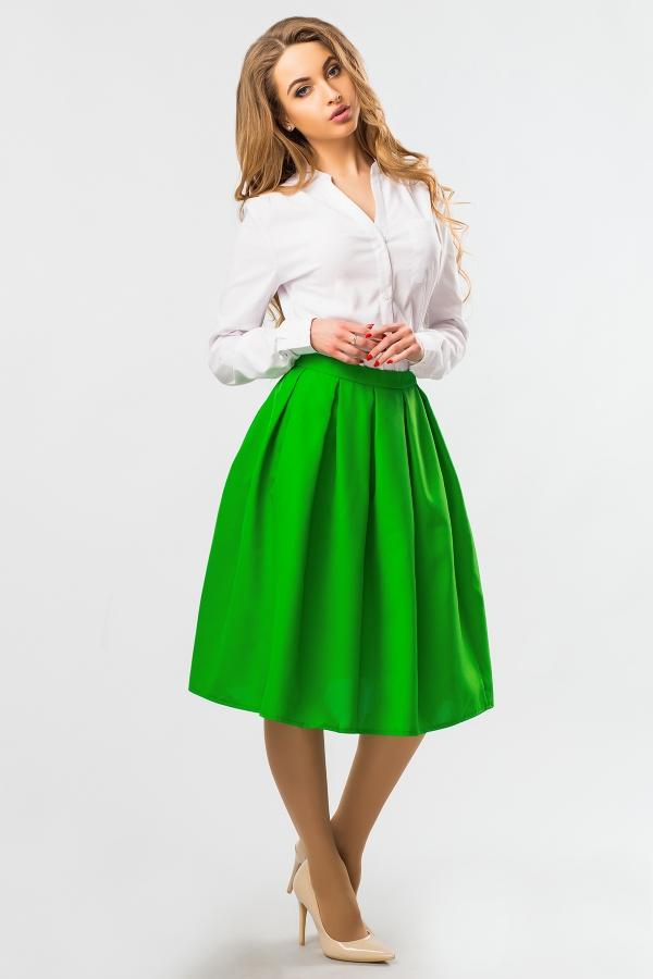 midi-skirt-green-color-full