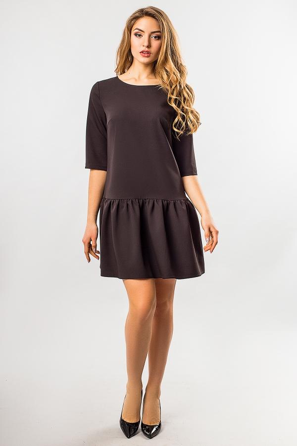black-dress-frill-bottom
