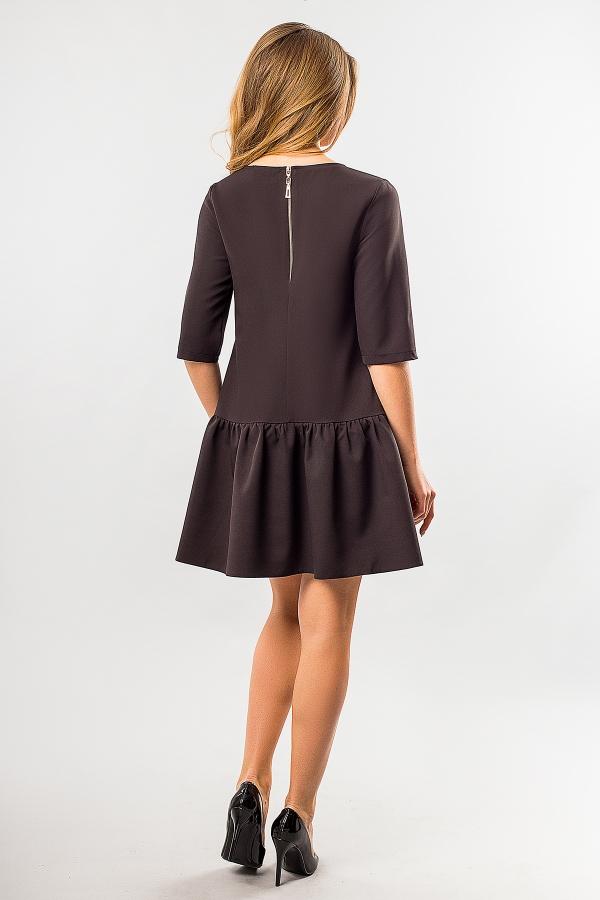 black-dress-frill-bottom-back
