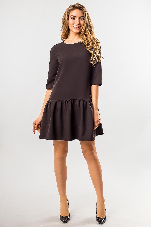 black-dress-frill-bottom-full