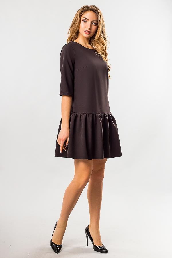 black-dress-frill-bottom-half