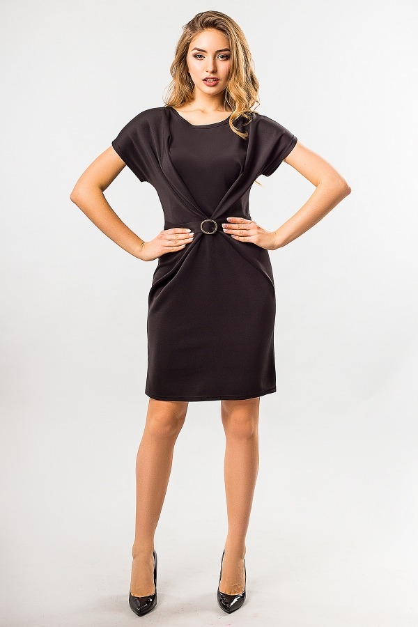 black-dress-with-buckle