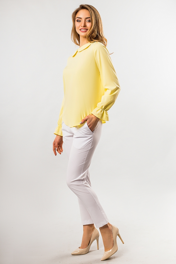 blouse-round-collar-yellow-color-half