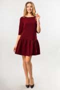 bordo-dress-frill-bottom