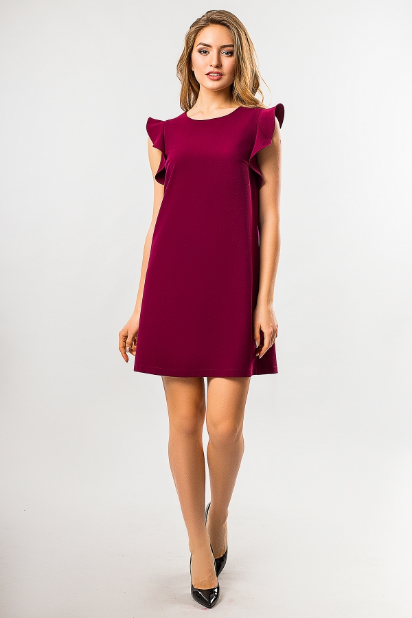 bordo-dress-with-flounces