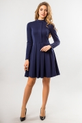 dark-blue-dress-fold-and-stand