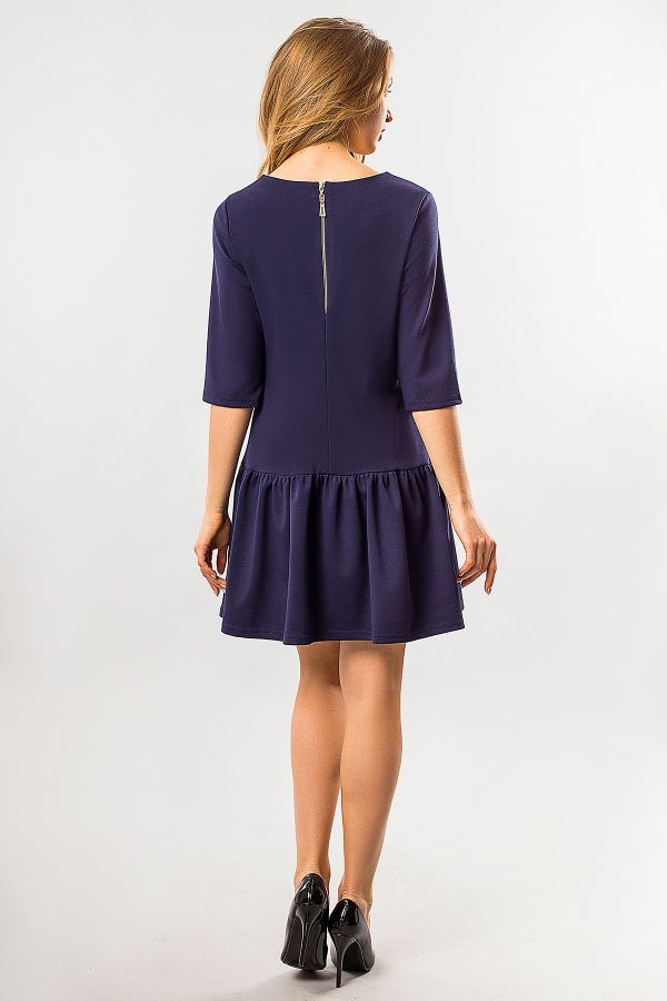 dark-blue-dress-frill-bottom-back