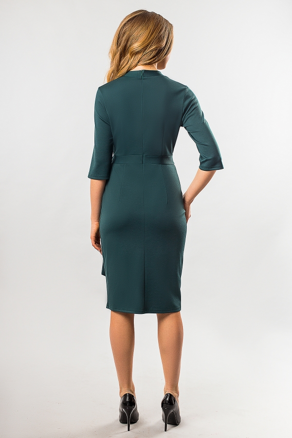 dark-green-dress-belt-back