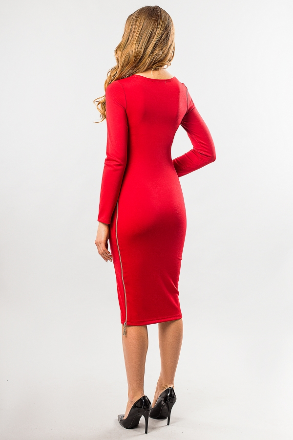red-dress-with-side-zip-back