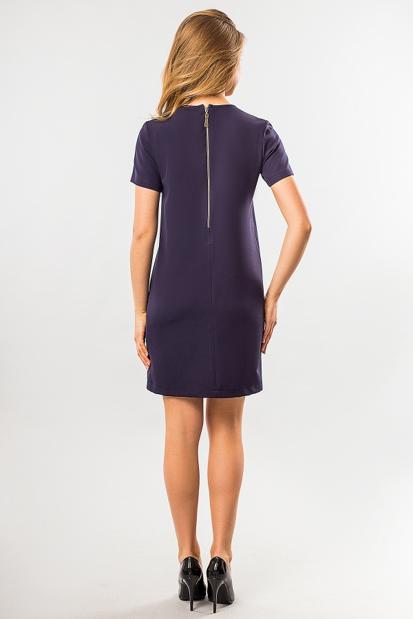 straight-dress-dark-blue-color-back