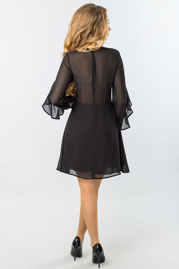 black-chiffon-dress-with-ruffles-back
