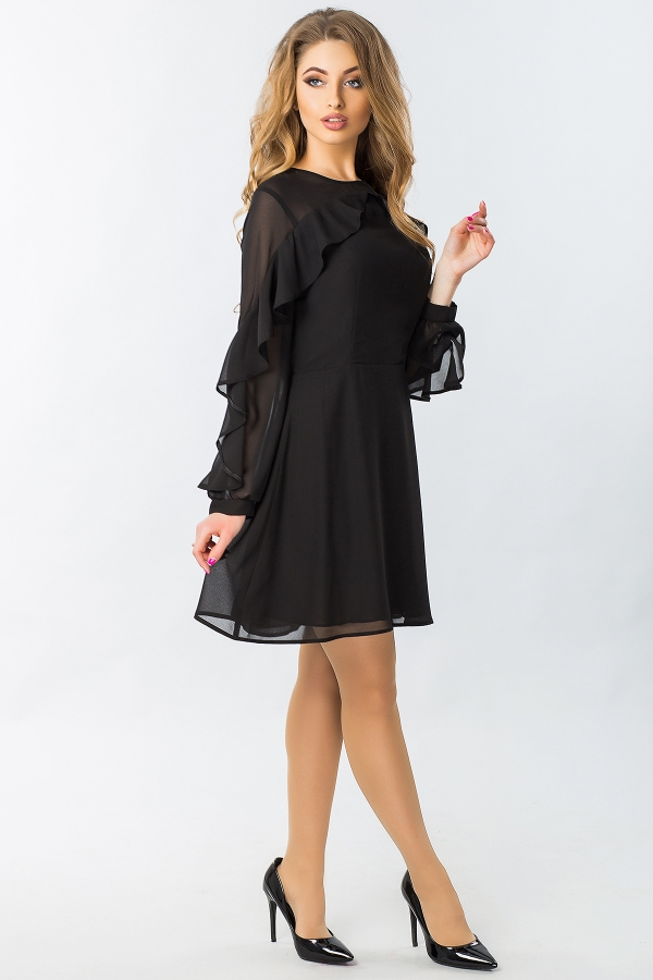 black-chiffon-dress-with-ruffles-full